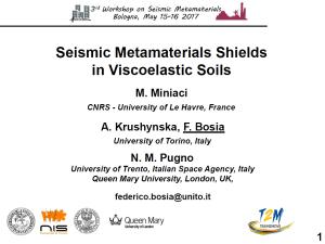 Seismic Metamaterials Shields in Viscoelastic Soils